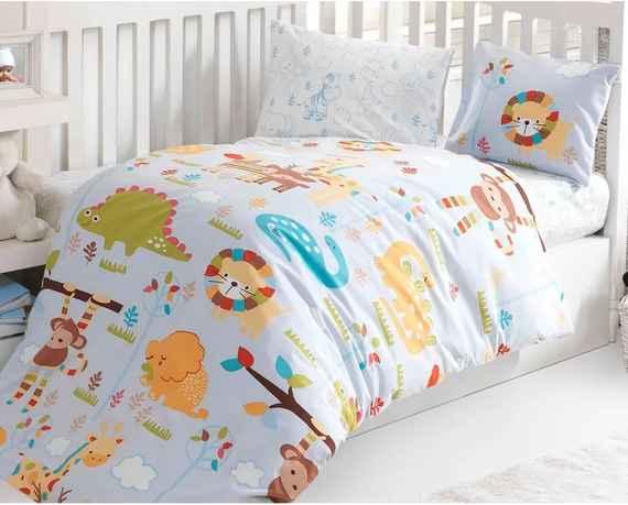 6c540d77d BedTex Detské bavlnené obliečky do postieľky ZOO, 100 x 135 cm, 40 x 60