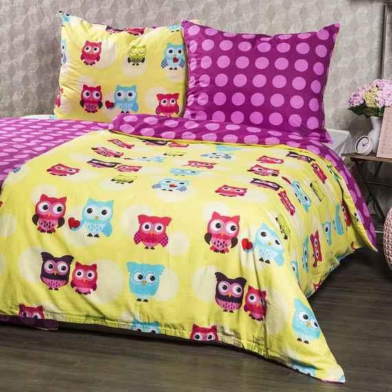 a9ff986aa4bc6 4Home Bavlnené obliečky Sovička, 140 x 200 cm, 70 x 90 cm, 140