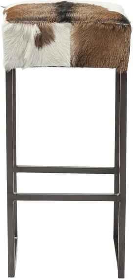 5b8597900aaa Barová stolička s poťahom z pravej kozej kože Kare Design Country