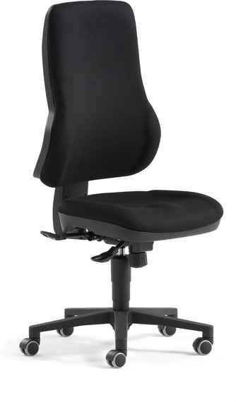 a0c8abd9e Kancelárska stolička HASTINGS ergonomicky tvarovaná, čierna / čierna