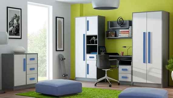 bc4a28a3e906 Detská izba GITA - modrá 200x90x15 cm pružinový matrac