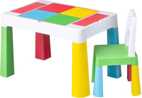 1ea4f7dc1711 MAXMAX Detský stolček sa stoličkou TEGA MULTIFUN - multicolor