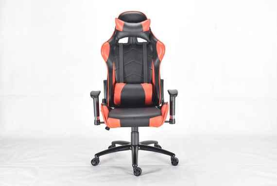 18d11bb65 BEZDOTEKU Kancelárska stolička PREDATOR čierna s červenými pruhmi