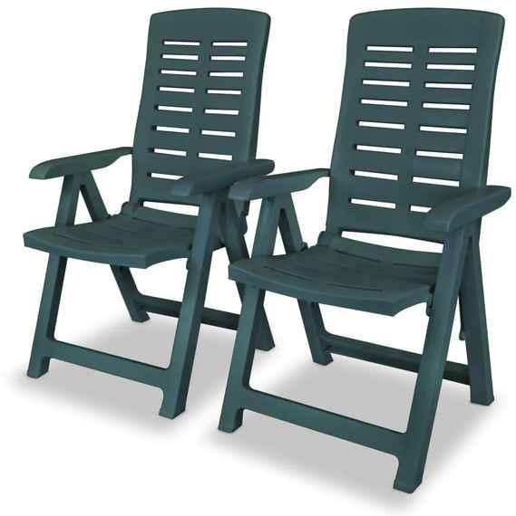 41998387f7aa5 Sklápacie plastové záhradné stoličky, 2 ks, 60x61x108 cm, zelené