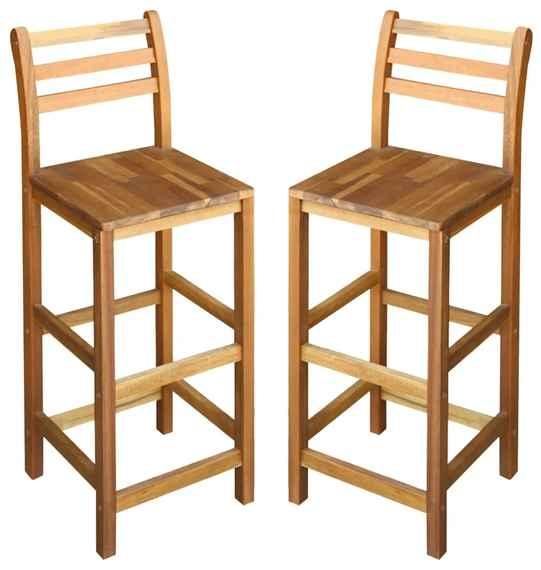 bff075009365f Barové stoličky 2 ks, akáciový masív 42x36x110 cm