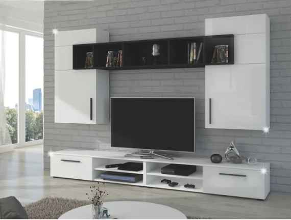 3e1b8b195e8ba Lesklé obývacie steny – zostavy do obývačky s vysokým leskom | Biano