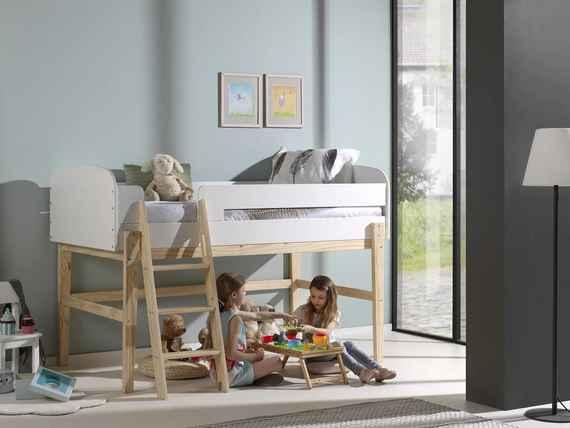 dd3c693dfd21 Detská vyvýšená posteľ s priestorom - Kiddy