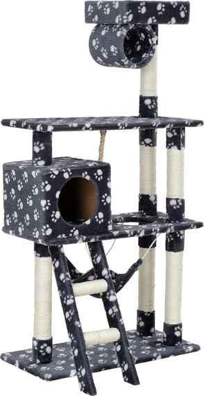 en.casa ® Škrabací strom pre mačky - 70 x 50 x 141 d7a0e6cf5bd