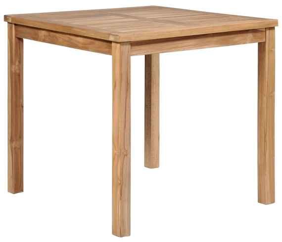 c39ffc9f7aab Vonkajší jedálenský stôl 80x80x77 cm masívne teakové drevo