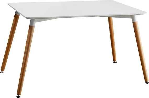 19cca4f0b6157 Jedálenský stôl, biela/buk, DIDIER 2 NEW