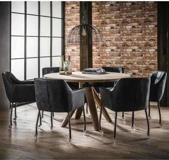75cef6e61a77 Jedálenský stôl 20-68 Ø135cm Acacia Agát-Komfort-nábytok