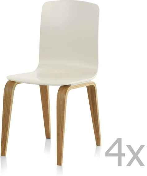 b4c9e596ac76 Sada 4 bielych jedálenských stoličiek Geese