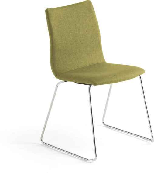 85b00631de03 Zelené konferenčné stoličky bez opierok