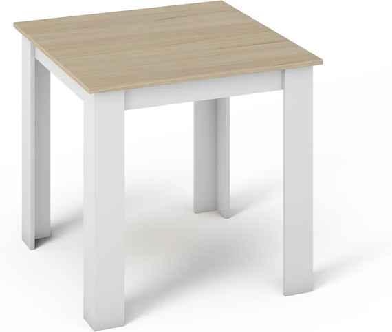 4ce54bc3f0f72 KONGI malý jedálenský stôl 80, dub sonoma/biela