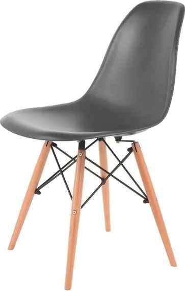 408ea7e65b47 Čierne jedálenské stoličky v bukovom dekore