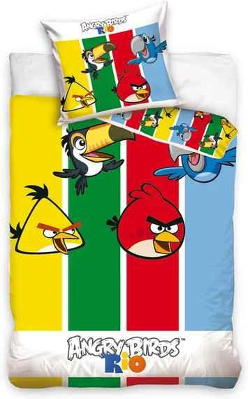 74007148c64d7 Carbotex Obliečky Angry Birds pruhy bavlna 140/200, 70/80 cm