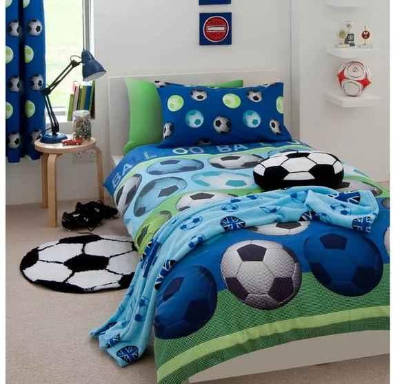 58a5ea26e Detské modré obliečky Catherine Lansfield Football, 135 × 200 cm