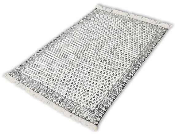 6148aadee Bavlnený koberec, 180x270 cm, čierno-biely
