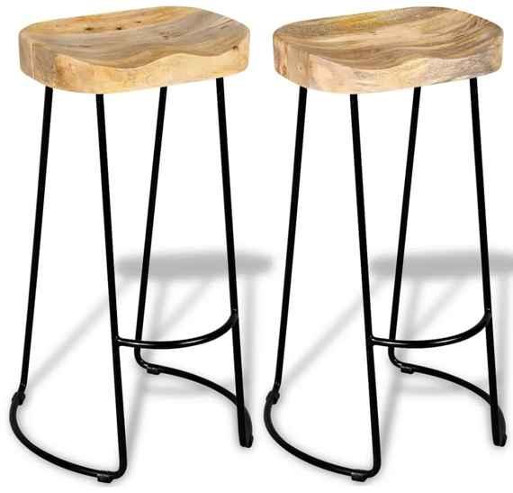 9e5b847f0589 Drevené barové stoličky vo vintage štýle bez opierok