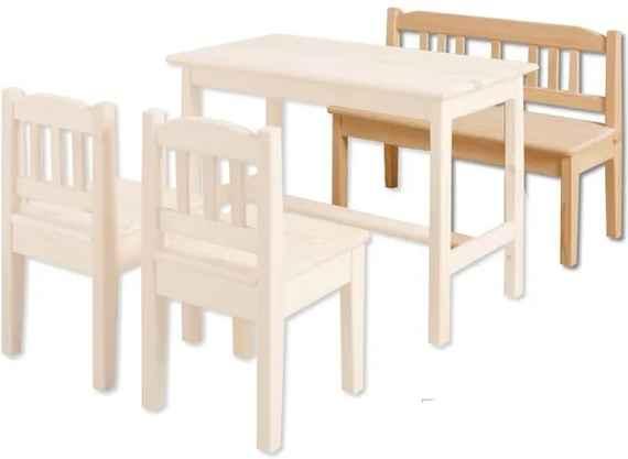 2ea3774efd33 MAXMAX Detská drevená jedálenské lavice z masívu borovice