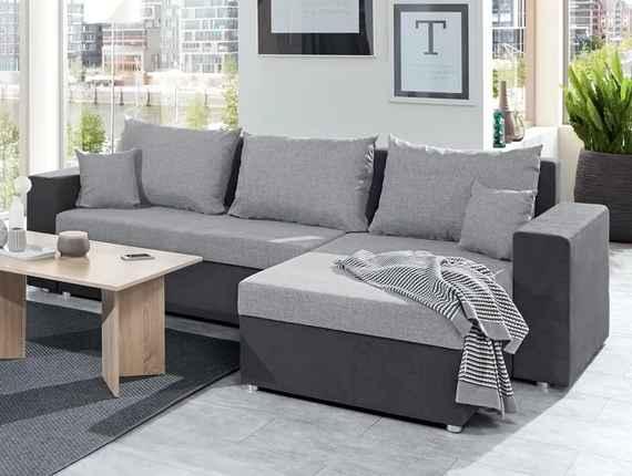 3e570389d Rohová sedacia súprava Samba II, tmavo šedá/svetlo šedá tkanina