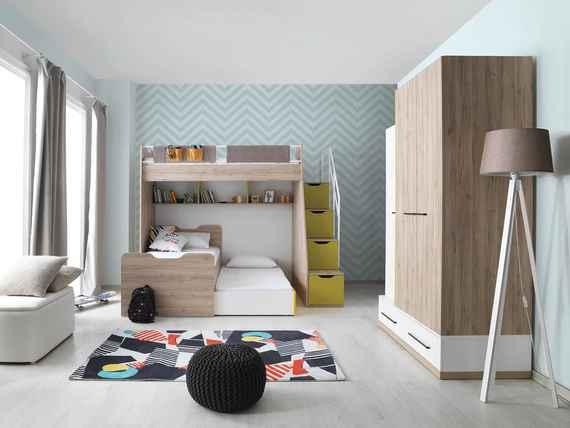 3a612e9cde78 Poschodové postele 90 cm s prístelkou