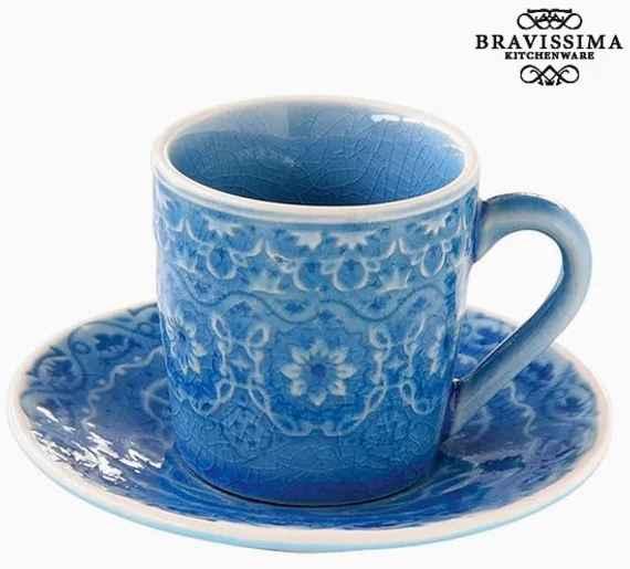e04b6707cd5 Hrnček s Tanierikom Porcelán Modrá by Bravissima Kitchen