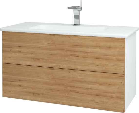 f4b0ee13a608 Dřevojas - Koupelnová skříň VARIANTE SZZ2 100 - N01 Bílá lesk   D09  ARLINGTON (160807