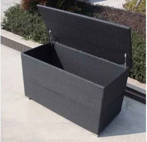 58a2fdca3aeec Umelý ratan Box na podušky Farba ratanu Čierna 0105