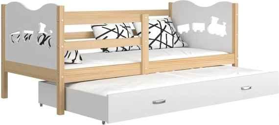 7973e0c95760 GL Detská posteľ Fox P2 s prístelkou 190x80 biela Farba  Jelša