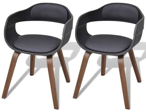8d79208b97be4 Jedálenská stolička z ohýbaného dreva s poťahom z umelej kože, 2 ks (2 x