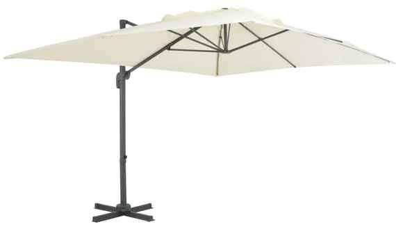 f57db0f47 vidaXL Závesný slnečník s hliníkovou tyčou 400x300 cm pieskový