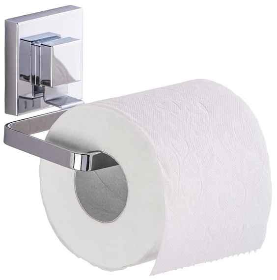 Držiak na toaletný papier bez nutnosti vŕtania Wenko Vacuum-Loc Quadrio 26a1be6fe91