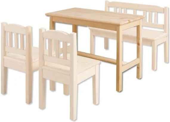 5dedf8746e28 MAXMAX Detský drevený jedálenský stolík z masívu borovice