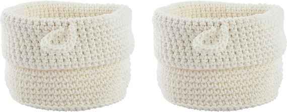 8a37d858b Sada 2 bielych košíkov Confetti White, 13 cm
