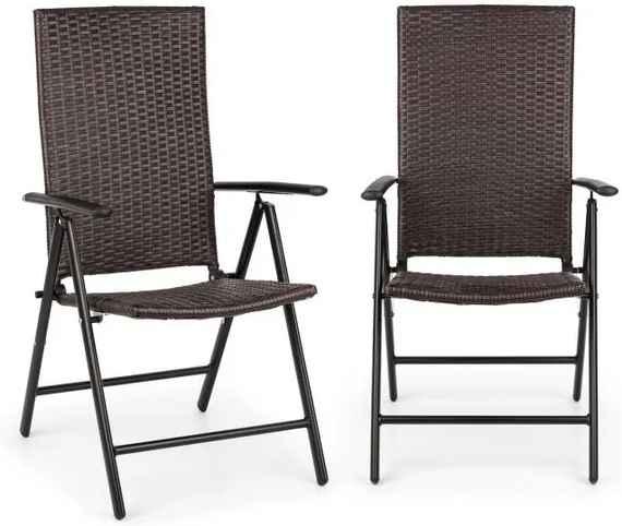 7300e378a04fe Blumfeldt Estoril, záhradná stolička, polyratan, hliník, 7 úrovní, skladacia,  hnedá