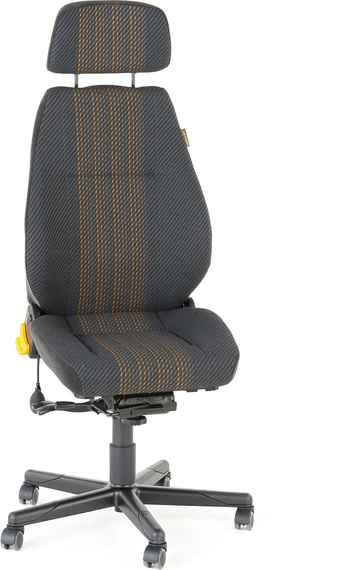 9542bda57 Kancelárska stolička Preston, na 24 hodinové sedenie, šedá/žltá
