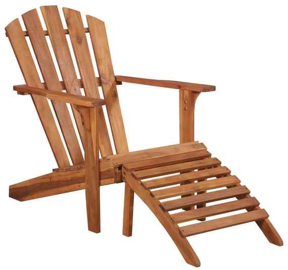 7befb267e9d3 Záhradná stolička adirondack s podnožkou akáciové drevo