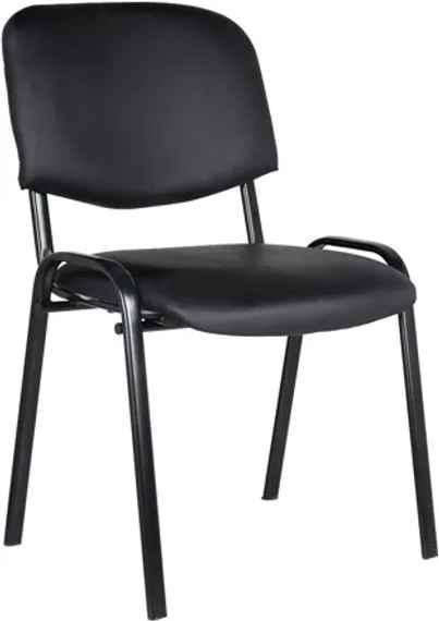 3238491cb7d7 DREVONA13 Koženková rokovacia stolička čierna LEDA-NE
