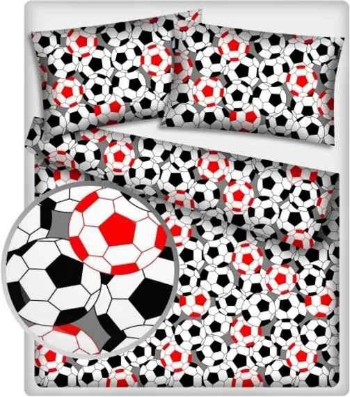 b4e517a4243cb MAXMAX Detské bavlnené obliečky FUTBAL - červené 140 x 200 cm 140x200 cm