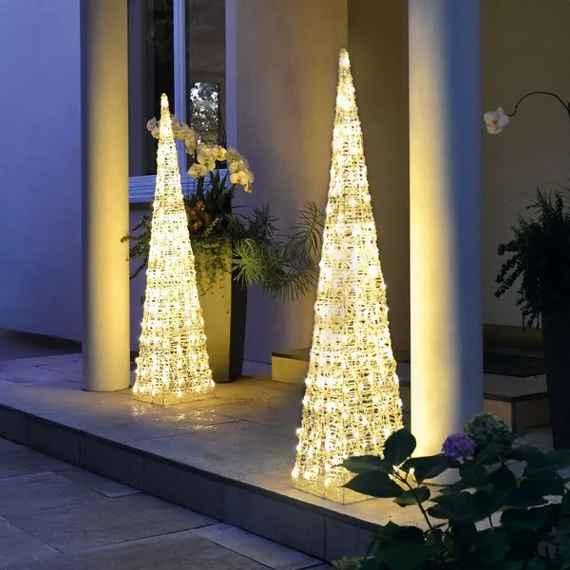 Hellum Vonkajšia svietiaca pyramída LED 90 cm 3b86602ff61