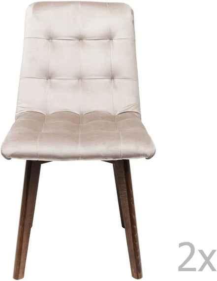 a9b4067e50f4 Sada 2 sivých kožených jedálenských stoličiek Kare Design Moritz