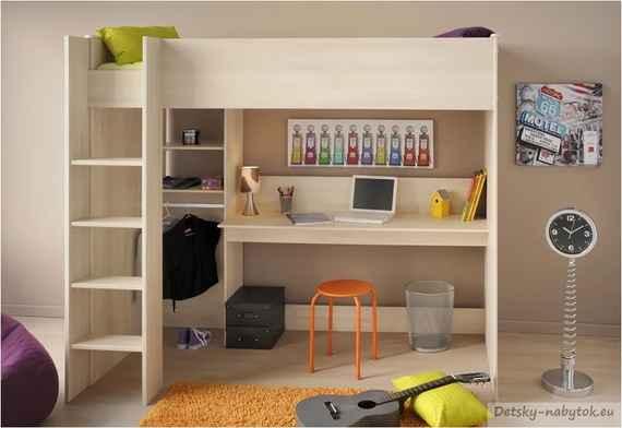c84dee039c6f Detská poschodová posteľ Robin - akácia