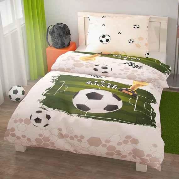 9ed275780 23,49 € Kvalitex Bavlnené obliečky Futbal, 140 x 200 cm, 70 x 90 cm
