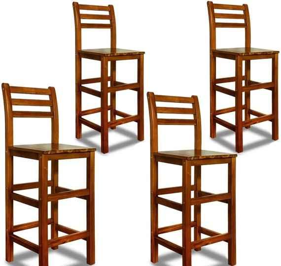 9412e2dcf2db Barová stolička z agátového dreva 4ks D1777 Dekorhome